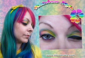 Cherry Makeup Rainbow Tutorial by cherrybomb-81