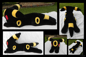 Huge Umbreon Plushie V2 by racingwolf
