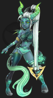 SuiAdopts - The Teal Demoness CLOSED by Suiish
