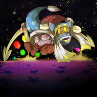 :Kirby: Marx + Magolor by Veonara