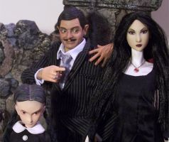 Work In Progress on Morticia Addams OOAK by cbgorby