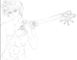 Incomplete Roxas? by MarieJaneWorks