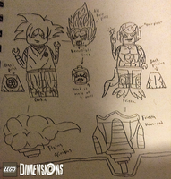 LEGO Dimensions Concept: Goku and Frieza by LeeHatake93