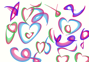 Hearts and colors Drawing by giantstorylover