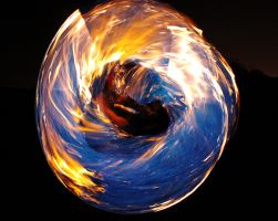 Blue Fire Wheel by MD-Arts