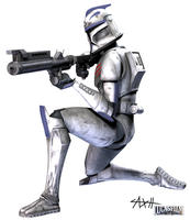 CT-7956 Changer, Clone Wars by AxelHonoo
