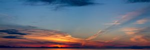 Alaskan Cruise Sunset Panorama by sivousplay
