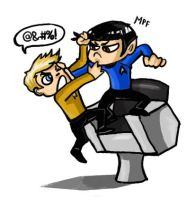 Star Trek. Fight for the chair by Deerane