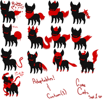 ..:: GORE CAT ADOPTABLES SET 1 ::.. ALL GONE by CrowMutt