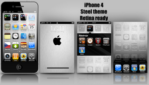 iPhone 4 Steel theme by iSugar