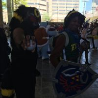 Hood Link and Uchiha Umbreon - Otakon 2015 by King-Hauken