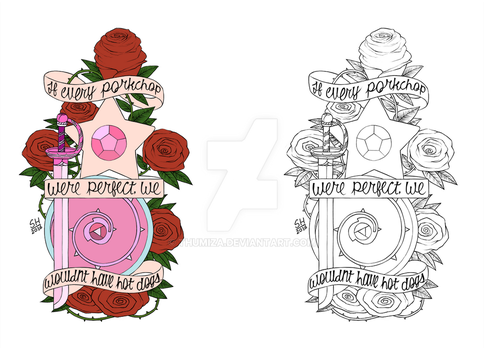 Steven Universe Tattoo Redesign by thumiza