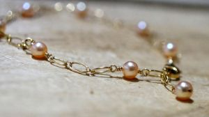 Pearl Anklet by CrysallisCreations