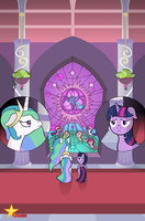 Fan Cover - FF Celestia and Twilight by FiMStargazer