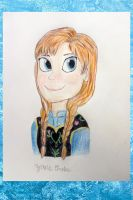 Anna from Frozen by ZaneDrake