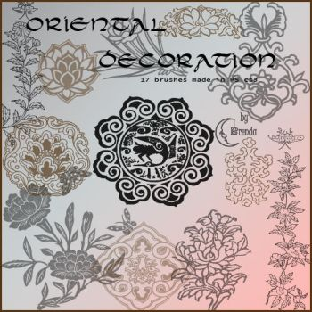 Oriental Deco Brushes by Coby17