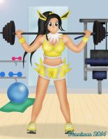 Working out with Jolteon by DannimonDesigns