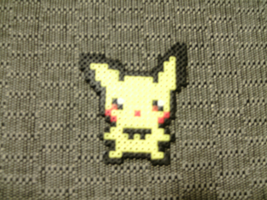 Perler Beads Pichu by TelevisionKat