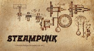 Steampunk Schematics by Pixel2Portrait