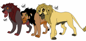 Male Lions adopt-five points by werewolftg