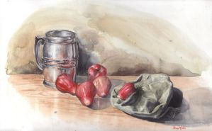 watercolor still life by thuyngan