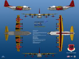 Lockheed DC-130J Drone Carrier by haryopanji