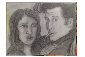 Grease inspired pencil piece by MoniaArt101