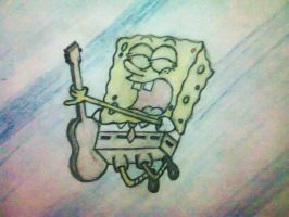 Spongebob with his guitar by ninebreaker-09