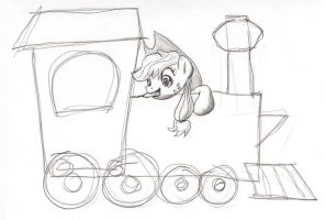 Sketchy Train by shoeunit