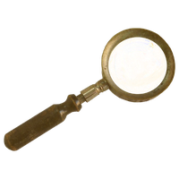 Steampunk Victorian Magnifying-glass Icon Mk2 by pendragon1966