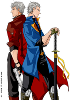DEVIL MAY CRY - Brothers by H4NDS0M3-J4CK