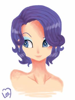 Humanized Rarity short hair (headshot) by Leafa123