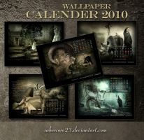 2010 wallpaper Calendar by sabercore23ArtStudio