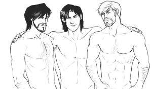 Macho Triumvirate Sketch by ximena07