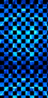 BRIGHT Blue Fractal Checkered [Custom Box BG] by darkdissolution