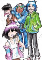 GORILLAZ by hewhowalksdeath