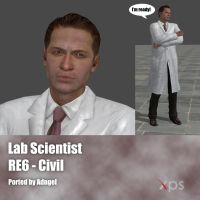 RE6 Civil Scientist man by Adngel