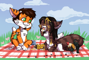 Kitty Picnic by Driphtyr