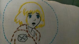 Shingeki no Kyogin Embroidery- Armin by StacheRabbit