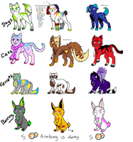 Wolf-Cat-Ferret-Rabbit adopts by Storm-adopts-13