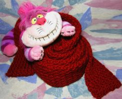Super-Long Dark Red Scarf by SmilingMoonCreations