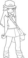 Pokegirl Lineart by fanchielover15
