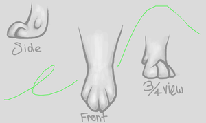 Paw Practice by TheCluelessCat