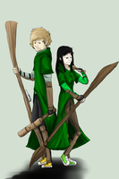 ZA: Slytherin Beaters by Alivewhenever