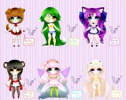 Chibis Adoptables CLOSED by SoriiNyu