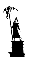 Pyramid Head Stencil by gregsep