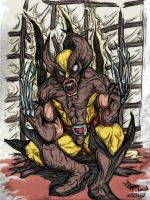 Wolvie Crazy: Just Color by jdmacleod