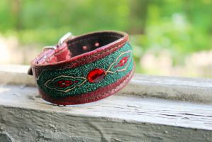 Leather Bracelet Rubin Sultan by dogdreams64