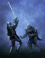 Knight Duel by Trevor-Stephen-Smith
