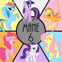 Mane 6 by Ackdari